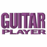 Guitar Player Embroidered Hooded Sweatshirts