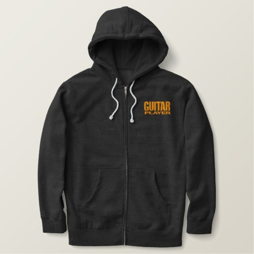 Guitar Player Embroidered Hoodie