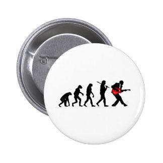 Guitar player evolution 6 cm round badge