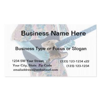 guitar player invert colors neat musician design business cards