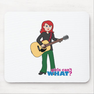 Guitar Player Light Red Mouse Pad