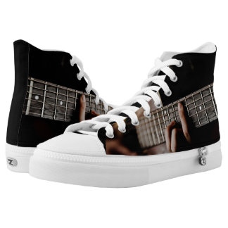 Guitar Player Music High Top Shoes Printed Shoes