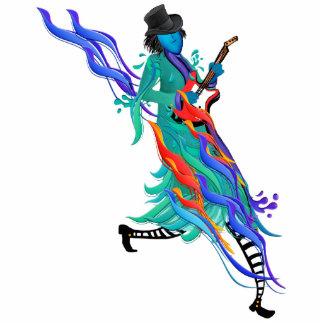 Guitar Player Musician Standing Photo Sculpture