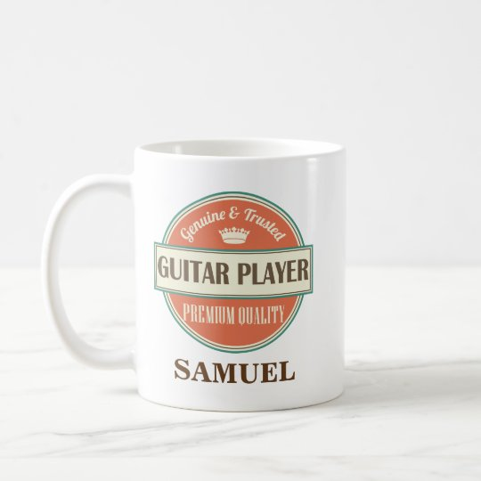 Guitar Player Personalised Office Mug Gift