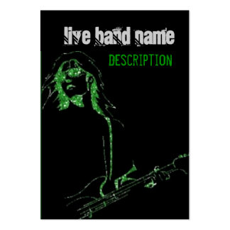 Guitar Player Singer Live Band Business Card