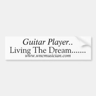 Guitar Player Sticker Bumper Sticker