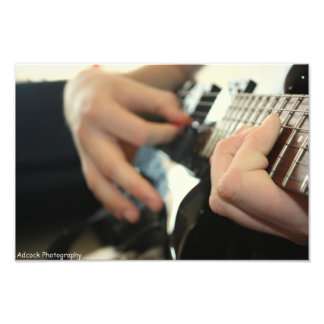 Guitar Playing Photo Print