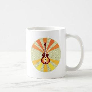 Guitar Pop Art Basic White Mug