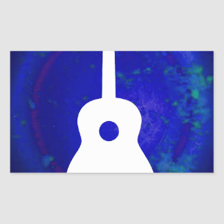 GUITAR PRODUCTS RECTANGLE STICKERS