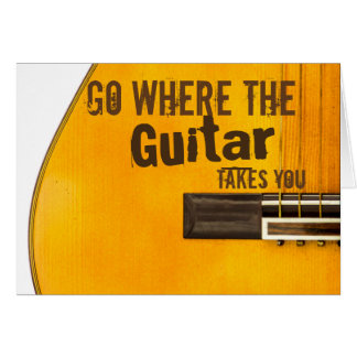 Guitar Quote Greeting Card