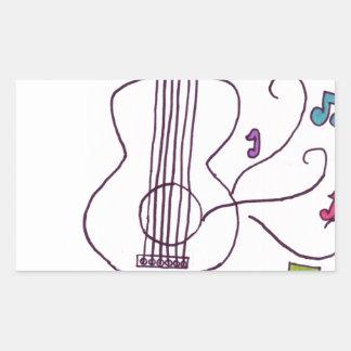 Guitar Rectangular Sticker
