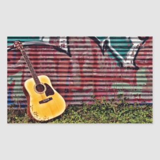 Guitar Rectangular Sticker
