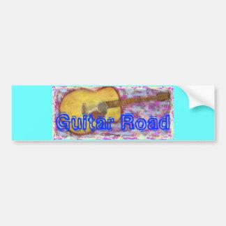 Guitar Road Bumper Sticker