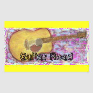Guitar Road Rectangular Sticker