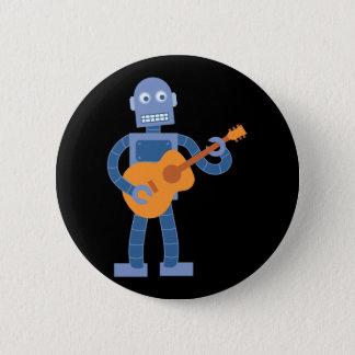 Guitar Robot 6 Cm Round Badge