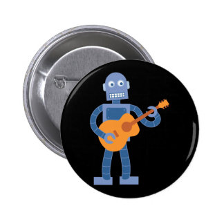 Guitar Robot 6 Cm Round Badge