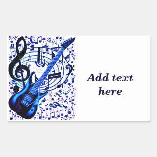 Guitar rocker_ rectangle stickers