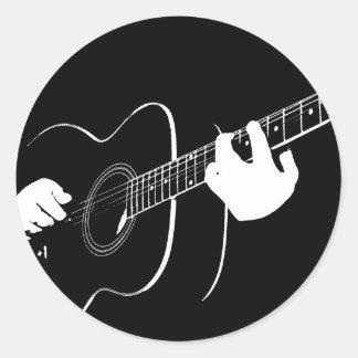 guitar round sticker
