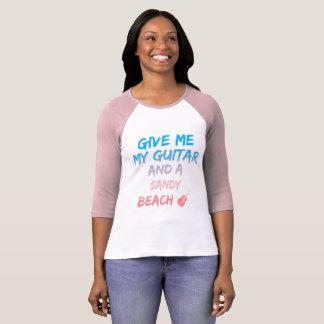 Guitar & Sandy beach T-Shirt