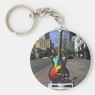 Guitar Series Basic Round Button Key Ring