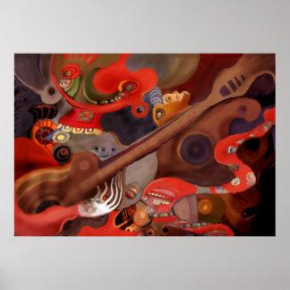 """"""" Guitar Shaman"""" (First 2007 artwork) Poster"""
