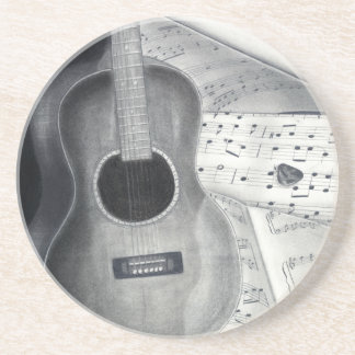 Guitar & Sheet Music Coaster