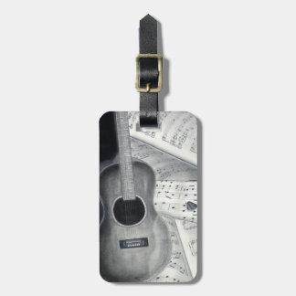 Guitar & Sheet Music Luggage Tag