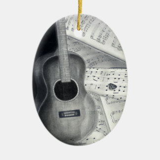 Guitar & Sheet Music Ornament
