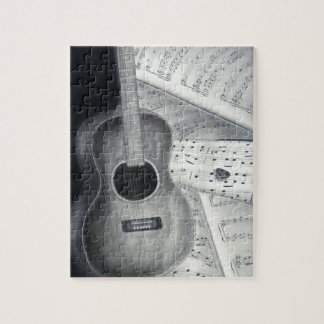 Guitar & Sheet Music Puzzle
