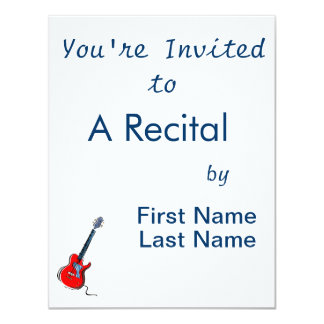 guitar single cutaway music design b red.png personalized announcement