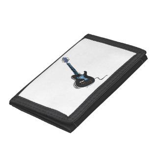 guitar single cutaway music design black.png trifold wallet