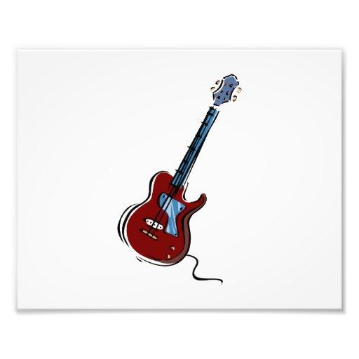 guitar single cutaway red blue music design.png art photo