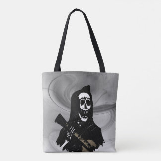 Guitar Skeleton Serenade Misty Eve Tote Bag