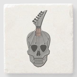 Guitar Skull Music Stone Coaster