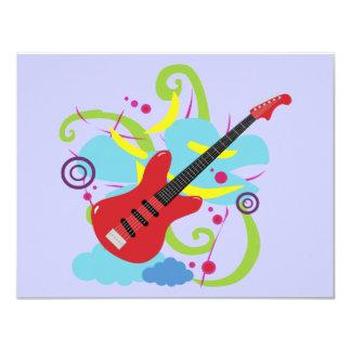 Guitar Solo Dream 11 Cm X 14 Cm Invitation Card