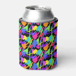 Guitar Splash Pattern Can Cooler