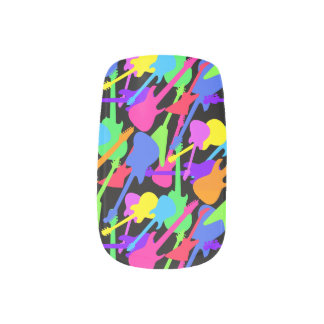 Guitar Splash Pattern Minx Nail Art