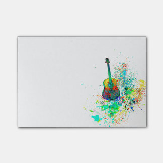 Guitar splatter post-it notes