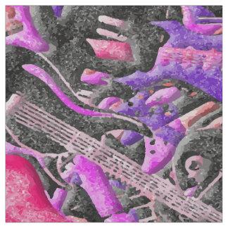 Guitar Sprinkles Fabric