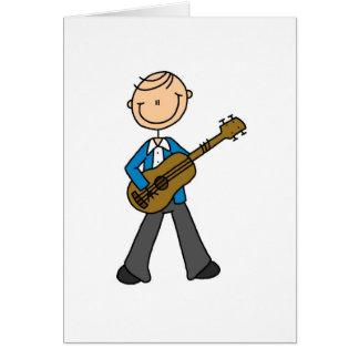 Guitar Stick Figure Card