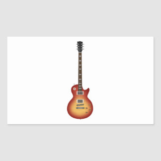 Guitar Rectangle Sticker