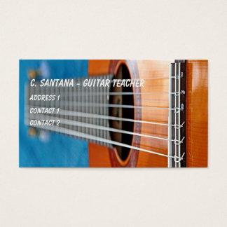 Guitar strings closeup business card