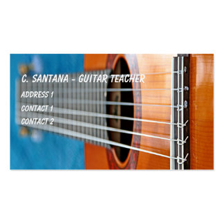 Guitar strings closeup pack of standard business cards