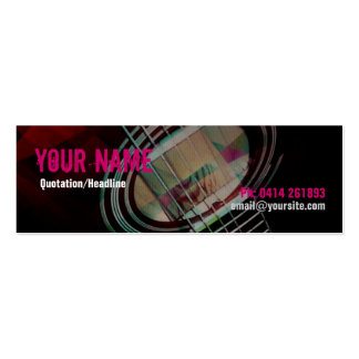 GUITAR Strings Pink Profile card Pack Of Skinny Business Cards