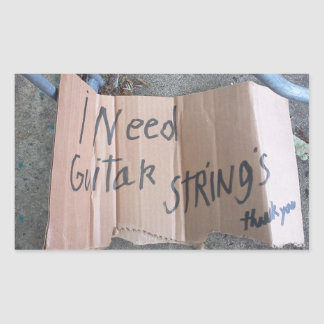 Guitar Strings Rectangular Sticker