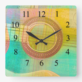 Guitar Study One 2016 Square Wall Clock