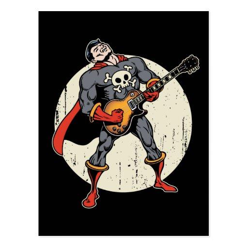 Guitar Superhero Post Card