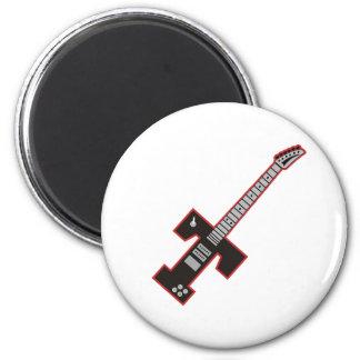Guitar T 6 Cm Round Magnet