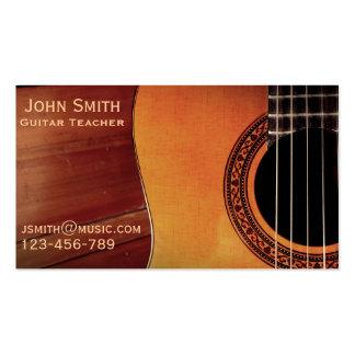 Guitar Teacher music tutor freelance Pack Of Standard Business Cards