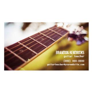 Guitar Teacher Pack Of Standard Business Cards